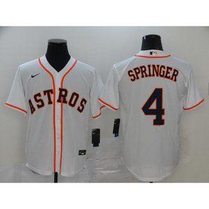 Houston Astros George Springer White Jersey